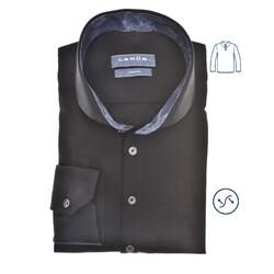 Ledûb Petal Contrast Long Sleeve Polo Poloshirt Black