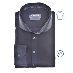 Ledûb Petal Contrast Long Sleeve Polo Poloshirt Navy