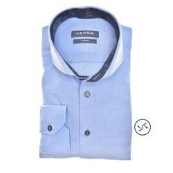 Ledûb Petal Contrast Slim Fit Overhemd Licht Blauw