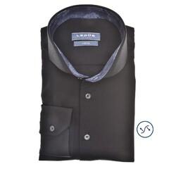 Ledûb Petal Contrast Slim Fit Overhemd Zwart