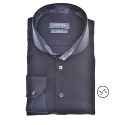 Ledûb Petal Contrast Slim Fit Shirt Navy