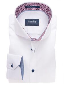 Ledûb Plain Non-Iron Half Circle Fun Contrasted Shirt White-Red