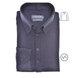 Ledûb Polo Long Sleeve Slim Fit Poloshirt Navy