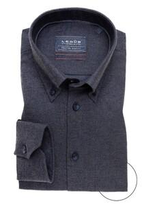 Ledûb Premium Button Down Overhemd Donker Blauw