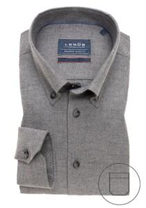 Ledûb Premium Button Down Overhemd Grijs