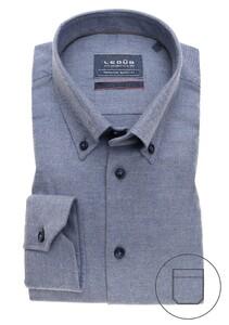 Ledûb Premium Button Down Overhemd Midden Blauw