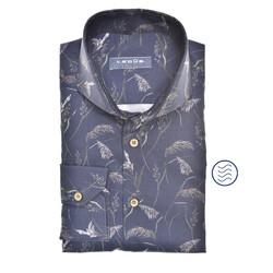 Ledûb Reed Shirt Modern Fit Overhemd Donker Blauw