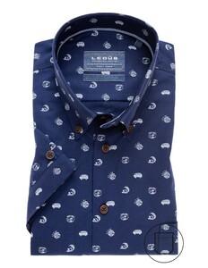 Ledûb Short Sleeve Good Vibe Overhemd Donker Blauw