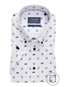 Ledûb Short Sleeve Good Vibe Overhemd Wit