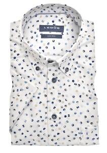 Ledûb Short Sleeve Multi Contrast Dot Overhemd Wit-Blauw