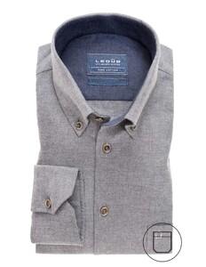 Ledûb Soft Feel Pure Cotton Shirt Overhemd Licht Grijs