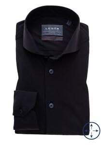 Ledûb Stretch Uni Cutaway Overhemd Navy
