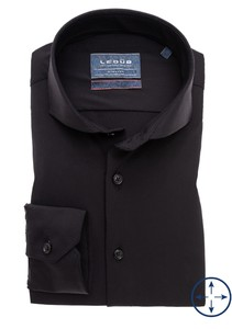 Ledûb Stretch Uni Cutaway Overhemd Zwart