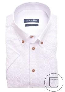 Ledûb Stripe Contrast Button Down Overhemd Wit