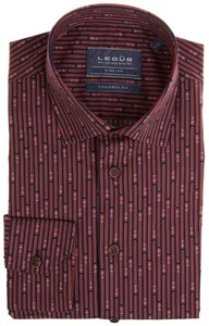 Ledûb Tailored Car Lane Stripe Shirt Red