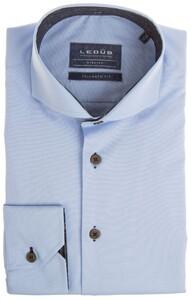 Ledûb Tailored Uni Lane Contrast Overhemd Licht Blauw