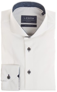 Ledûb Tailored Uni Lane Contrast Shirt White