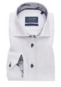 Ledûb Uni Contrast Non Iron Overhemd Wit