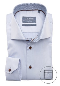 Ledûb Uni Multi Dotted Contrast Overhemd Licht Blauw