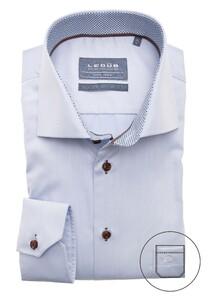 Ledûb Uni Multi Dotted Contrast Shirt Light Blue