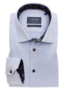 Ledûb Uni Non Iron Fine Contrast Overhemd Licht Blauw