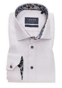 Ledûb Uni Non Iron Fine Contrast Shirt White