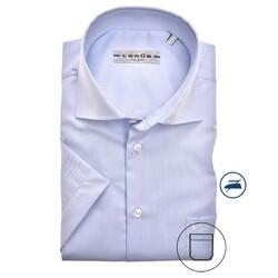 Ledûb Uni Short Sleeve Modern Fit Overhemd Licht Blauw