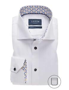 Ledûb Uni Textured Stretch Overhemd Wit
