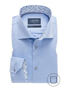 Ledûb Uni Textured Stretch Shirt Light Blue
