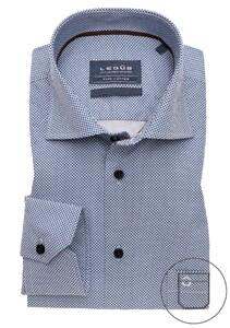 Ledûb Updated Modern Multi Dot Sleeve 7 Shirt Navy