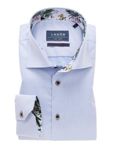 Ledûb Wide Spread Uni Contrast Shirt Light Blue