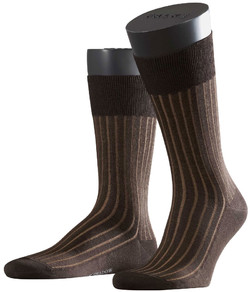 Falke Shadow Sok Dark Brown Melange