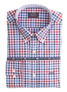 Paul & Shark Yachting Collection Check Blauw-Rood