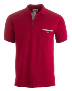 Lacoste Polo met Borstzak Bordeaux Red