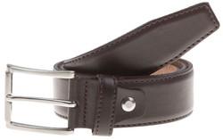 Lindenmann Basic Plain Belt Belt Dark Brown Melange