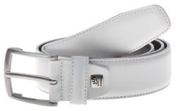 Lindenmann Basic Plain Leather Riem Wit