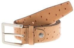 Lindenmann Camel-Bird Design Belt Cognac