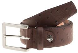 Lindenmann Camel-Bird Design Belt Dark Brown Melange