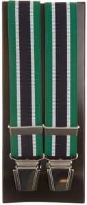 Lindenmann Contrasted Stripe Suspenders Green