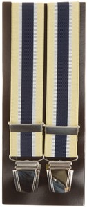 Lindenmann Contrasted Stripe Suspenders Yellow
