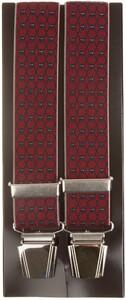Lindenmann Crosslink Pattern Suspenders Bordeaux