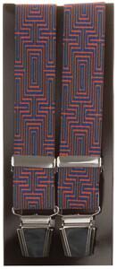 Lindenmann Geometric Pattern Suspenders Fine Orange