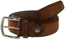 Lindenmann Luxury Bi-Leather Belt Cognac