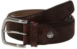 Lindenmann Luxury Bi-Leather Belt Dark Brown Melange