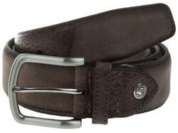 Lindenmann Luxury Bi-Leather Belt Taupe