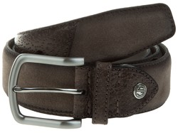 Lindenmann Luxury Bi-Leather Riem Taupe
