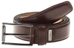 Lindenmann Luxury Fine Structure Belt Belt Dark Brown Melange