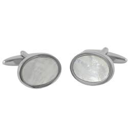 Lindenmann Manchetknopen Cufflinks Silver Bright