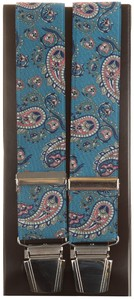 Lindenmann Royal Paisley Suspenders Blue