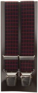 Lindenmann Square Pattern Suspenders Blue-Red